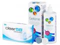 Kontaktlinser - Clear 58 (6linser) +Gelonelinsevæske 360ml