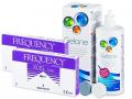 Kontaktlinser - FREQUENCY XCEL Toric (2x3 linser) +Gelonelinsevæske 360ml