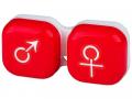Tilbehør - Linseetui man&woman - red
