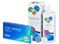 Kontaktlinser - Air Optix Aqua (6linser) +Gelonelinsevæske 360ml