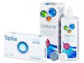 Kontaktlinser - TopVue Bi-Weekly (6linser) +Gelonelinsevæske 360ml