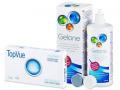 Kontaktlinser - TopVue Monthly (6linser) +Gelonelinsevæske 360ml