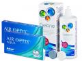 Kontaktlinser - Air Optix Aqua (2x3 linser) +Gelonelinsevæske 360ml